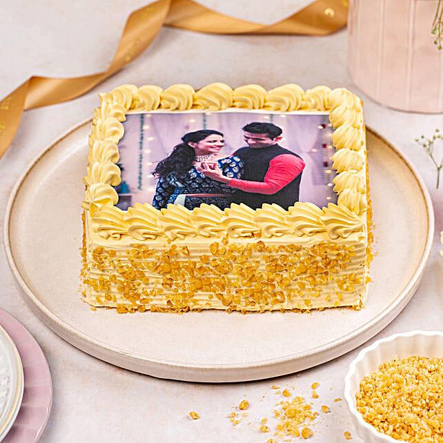 Crunchy Butterscotch Photo Cake: Photo Cakes