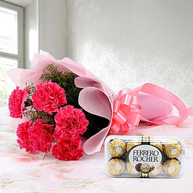 Cute Hamper: Send Carnations