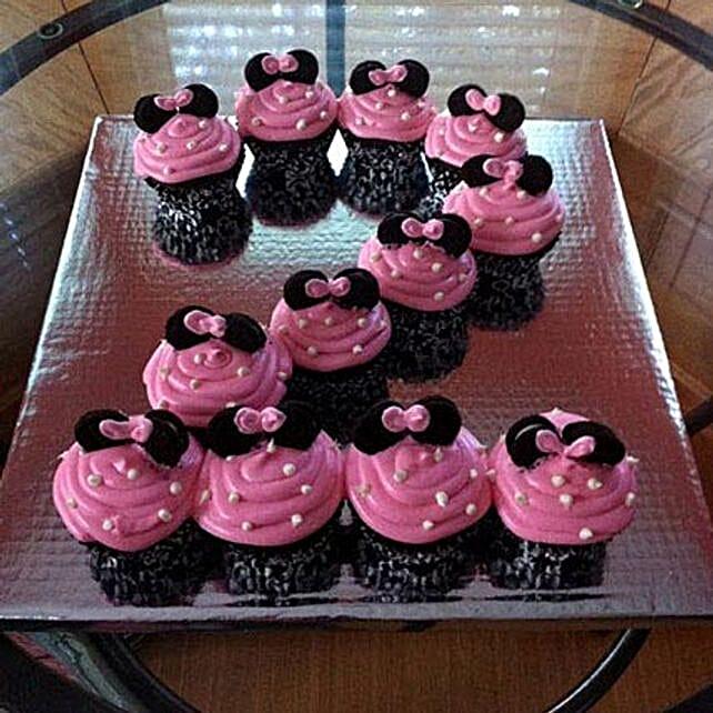 Cute Minnie Mouse Cupcakes: