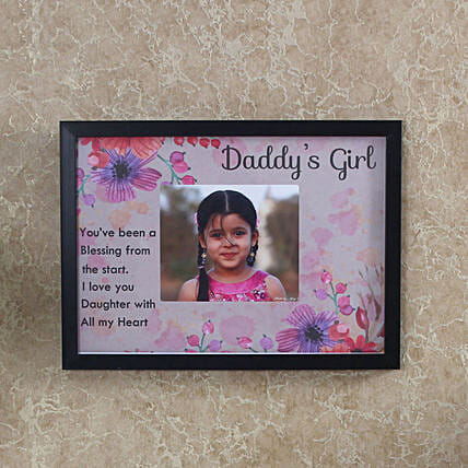 Daddys Girl Personalised Photo Frame: Photo Frames