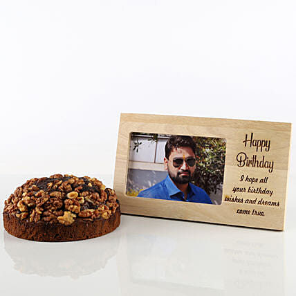Dates & Walnuts Dry Cake & Photo Frame Combo: Dry cakes