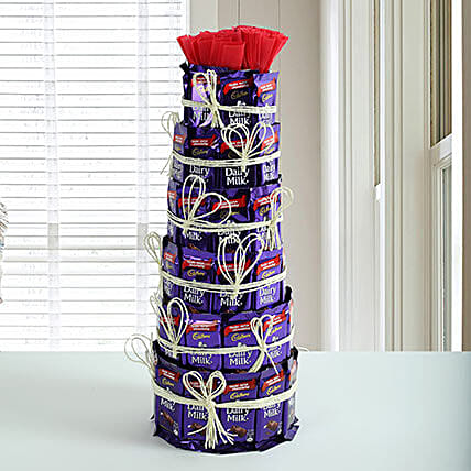 Delicious Dairy Milk Tower: Chocolate Bouquet