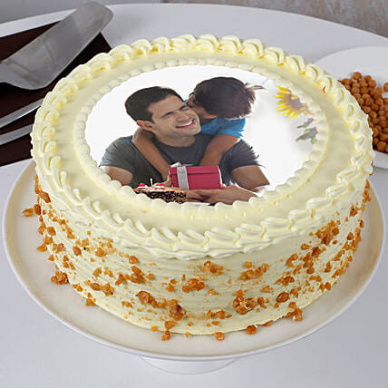 Delicious Fathers Day Butterscotch Photo Cake: Photo Cakes