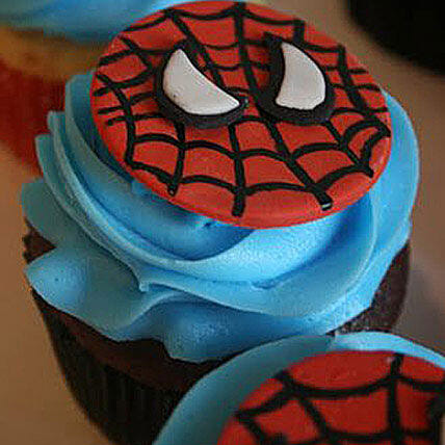 Delicious Spiderman Cupcakes: Send Cup Cakes