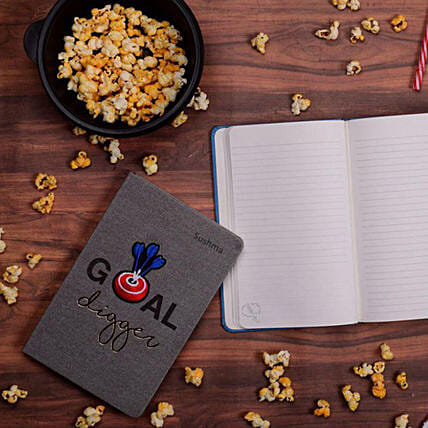 Denim Bull's Eye Personalised Notebook: