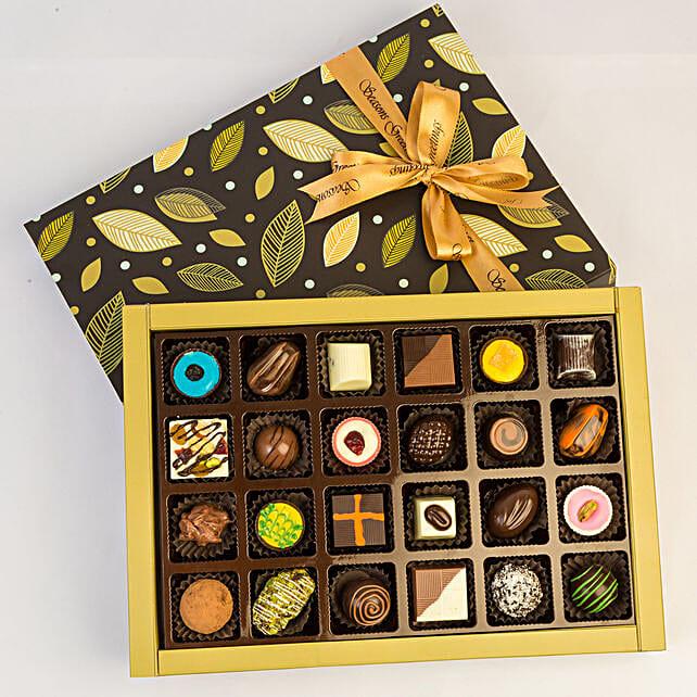Designer Assorted Chocolates In Beautiful Box- 24 Pcs: Chocolates Shopping India