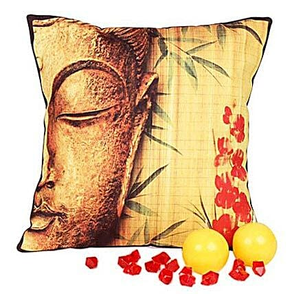 Divine Buddha Cushion with Candles: Candles