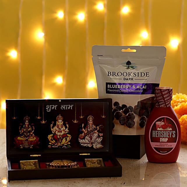 Diwali Pooja Box & Delicious Treats: Combo Gifts