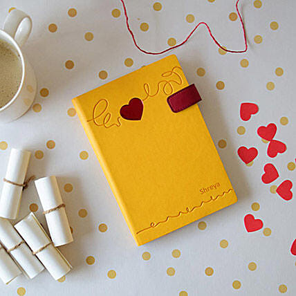 Doodle Heart Beat Personalized Diary: Send Miss You Gifts