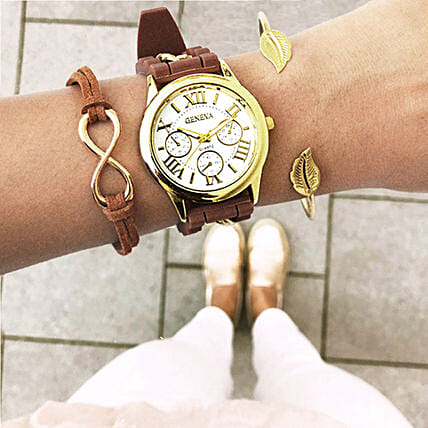 Earthy Brown Bracelet Stack: Accessories