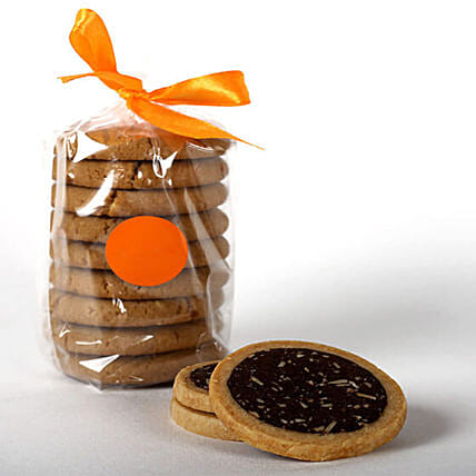 Eggless Cocoa & Almond Cookie Tin: Send Gourmet Gifts