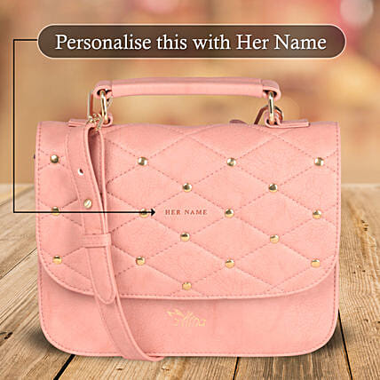 Elegant Pink Sling Bag: Personalised Handbags and Wallets