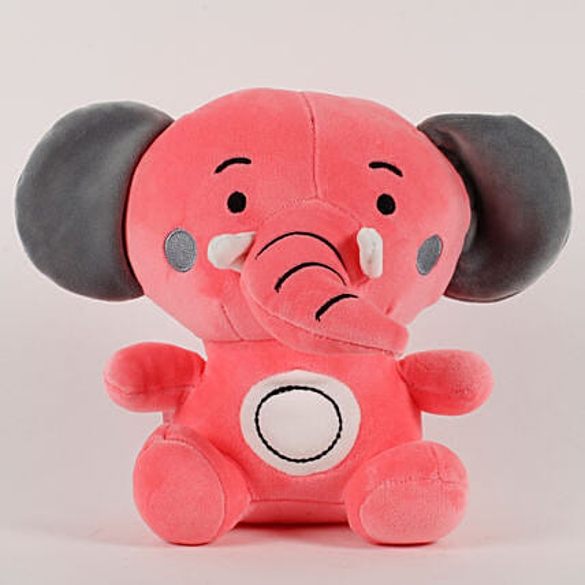 Elephant Soft Toy Baby Pink: Soft toys for birthday