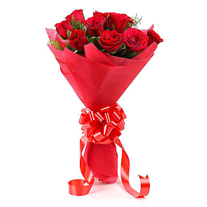Emotions- Beautiful 12 Red Roses Bouquet: Hug Day Gifts