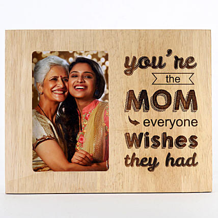 Engraved Wooden Photo Frame For Mom: