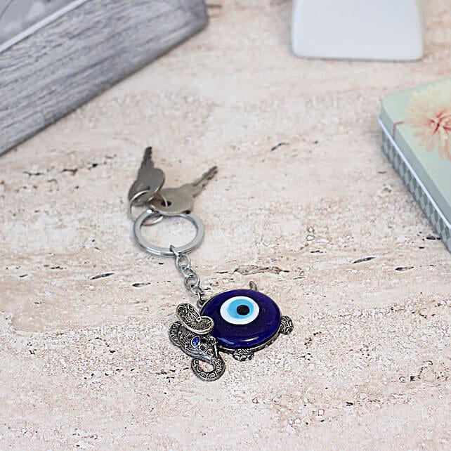 Evil Eye & Elephant Key Chain: Feng Shui Gifts