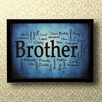 Expressive Brother Frame Gift For