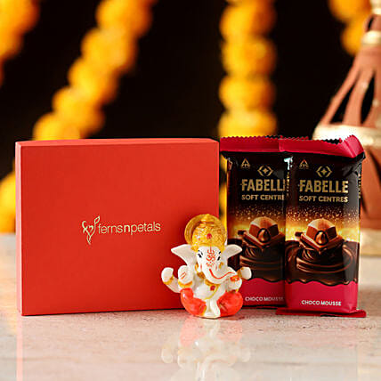 Fabelle Choco Mousse & Lord Ganesha: Diwali Gifts for Boyfriend