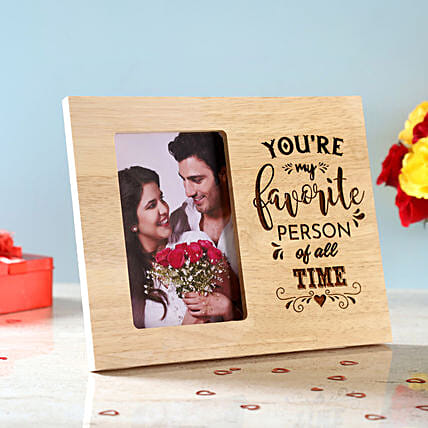 Favourite Person Engraved Wooden Frame: Send Photo Frames