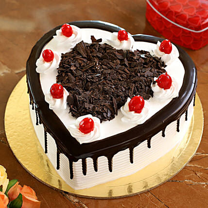 Flakey Hearts Black Forest Cake: Cakes Delivery India