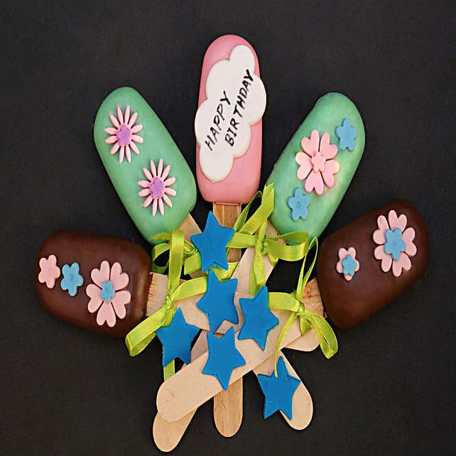 Floral Design Happy Birthday Cakesicles: Cakesicles