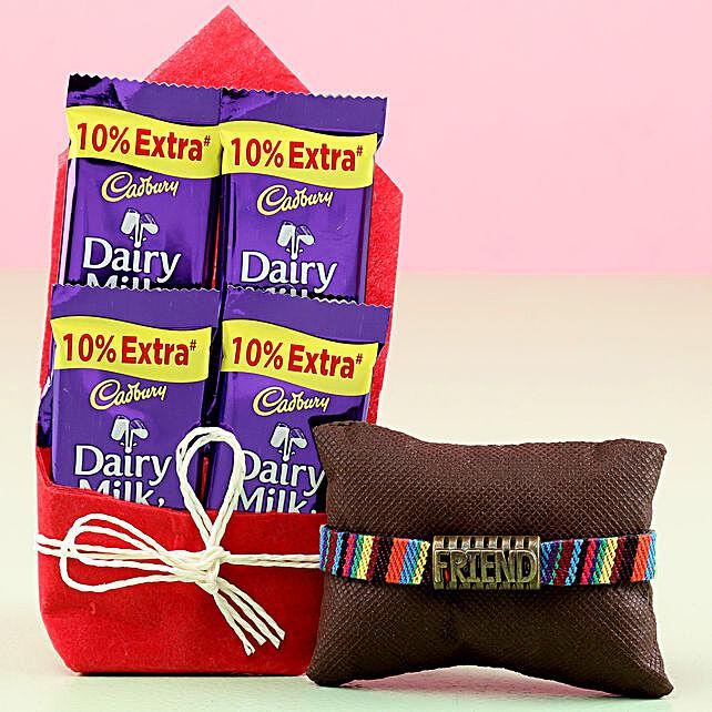 Friendship Band & Dairy Milk Chocolates: