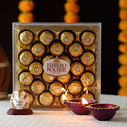 Ganesha Idol & Ferrero Rocher Treat: Ferrero Rocher Chocolates