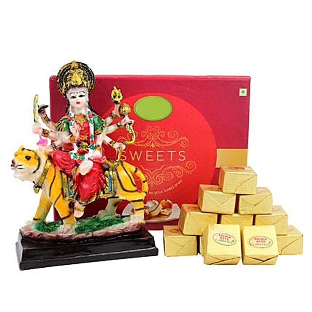 Goddess Durga and Sweets: Send Spiritual Gifts