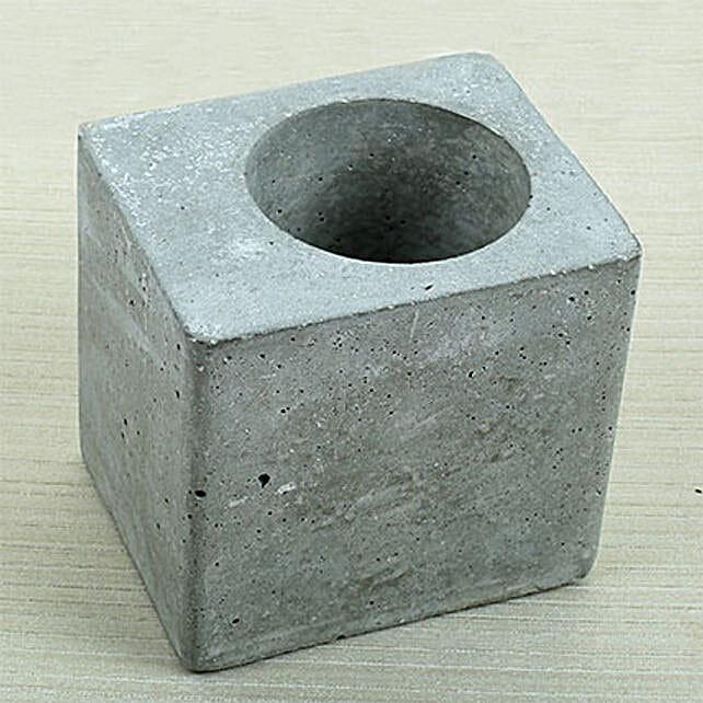 Grey Square Concrete Planter: Pots and Planters