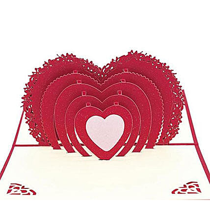 Handmade 3D Pop Up Heart Greeting Card: Unusual Gifts