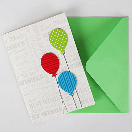Happy Birthday Balloon Greeting Card: Buy Greeting Cards