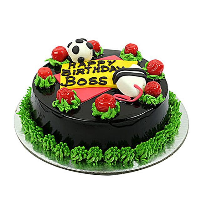 Happy Birthday Boss Chocolate Cake: Gift For Boss