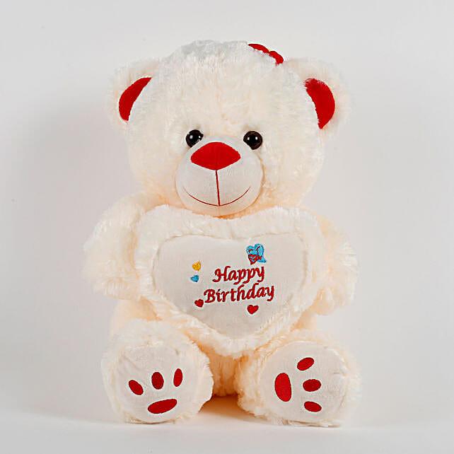 bb9c9ed0862 Happy Birthday Teddy Bear Cream  Send Soft Toys