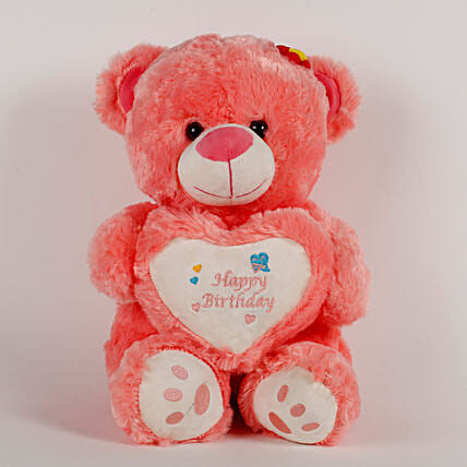 Happy Birthday Teddy Bear Peach: Soft Toys Gifts