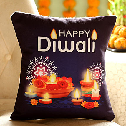 Happy Diwali Printed Cushion:
