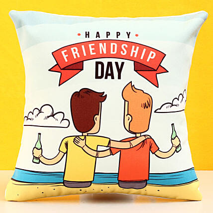 Happy Friendship Day Cushion: Gifts For Friendship Day