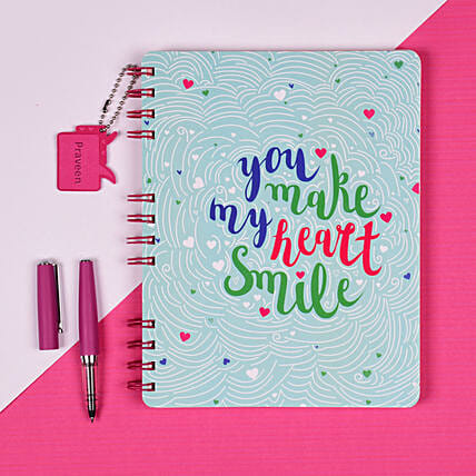 Happy in Love Personalised Notebook: Personalised Stationary