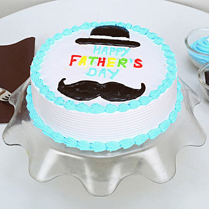 Hat And Moustache Fathers Day Cake: Red Velvet Cakes Bhopal