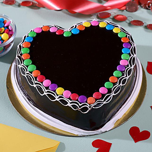Heart Shaped Chocolate Cake: