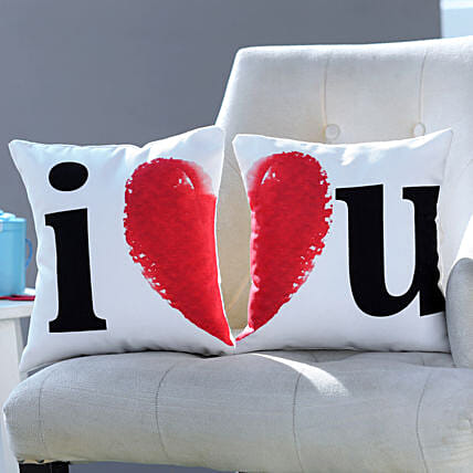 I Love You Cushion Set: Gifts for Valentine's Day