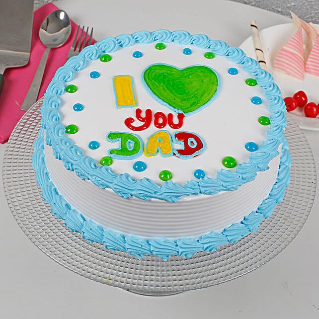 I Love You Dad Cream Cake: Send Butterscotch Cakes