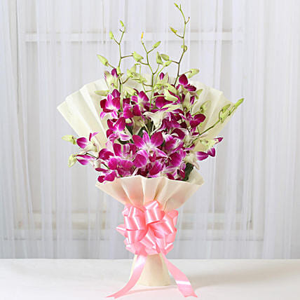 Impressive Orchids Bouquet: Gifts to India