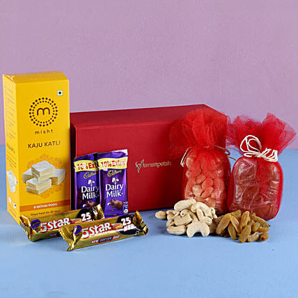 Kaju Burfi Festive Hamper: Send Gift Hampers