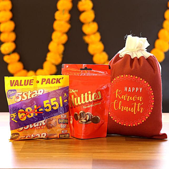 Karwa Chauth Gunny Bag & Chocolates: Chocolates for Karwa Chauth