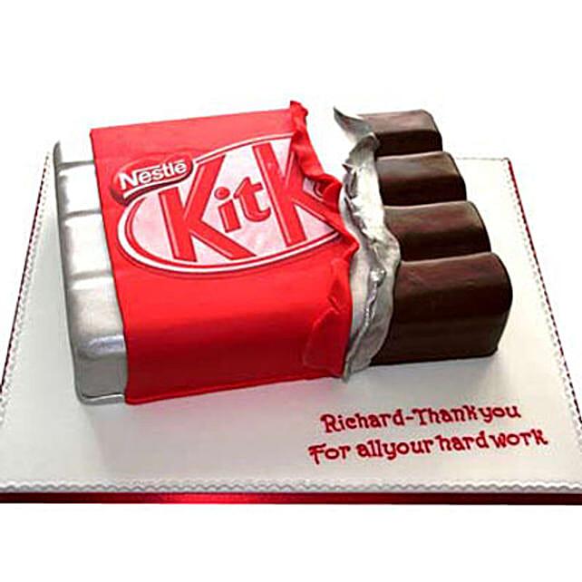 Kit Kat Shaped Cake: Designer Cakes