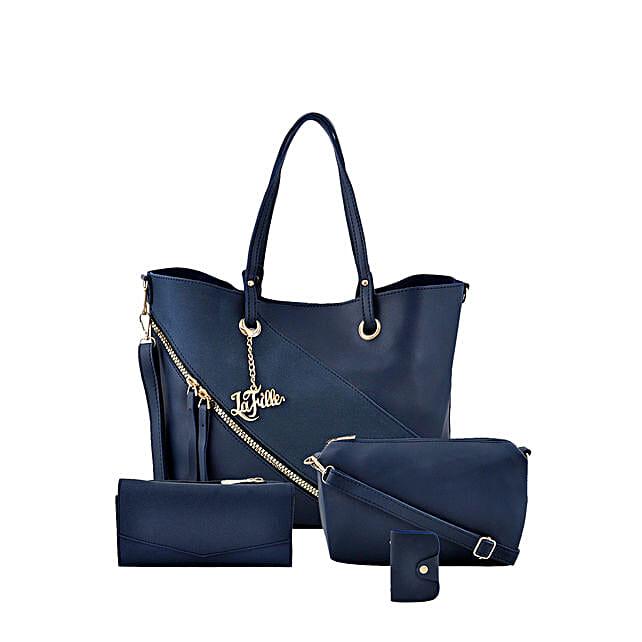LaFille Swanky Blue Handbag Set: Buy Handbags