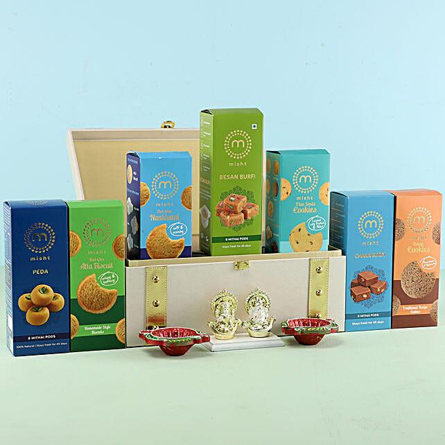 Lakshmi Ganesha Idol & Diwali Sweets Hamper: Buy Sweets