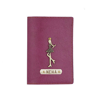 Leather Finish Passport Cover Purple: Personalised Accessories