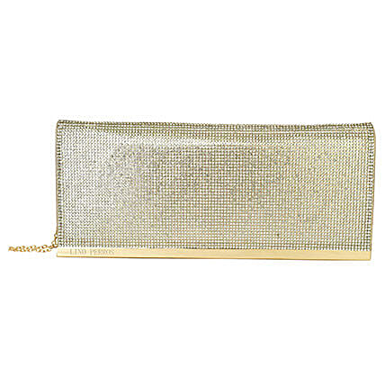 Lino Perros Shiny Golden Women Clutch: Fashion Accessories
