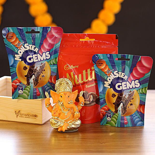 Lord Ganesha Idol & Choco Candies:
